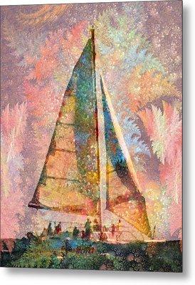 Spontaneity Paradise Nautical Visionary  Metal Print