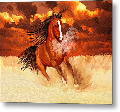 Spooked By The Storm Metal Print by Angela A Stanton