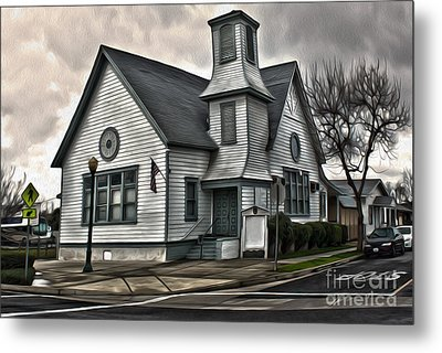 Spooky Church Metal Print by Gregory Dyer