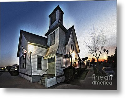 Spooky Church In Chino - 03 Metal Print by Gregory Dyer