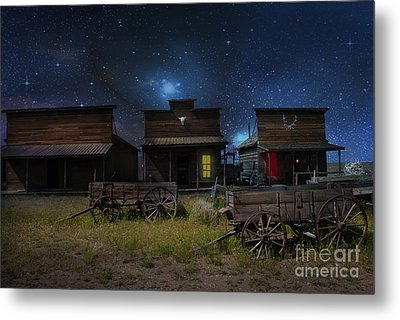 Spooky Ghost Town Metal Print by Juli Scalzi