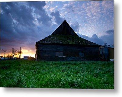Spooky Shadow Barn Metal Print by Eti Reid