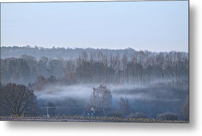 Spooky Winters Morning Metal Print by Karen Grist