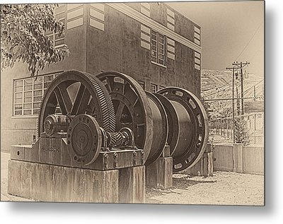 Spools And Gears Metal Print