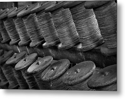 Metal Print featuring the photograph Spools In The Rope House by Nadalyn Larsen