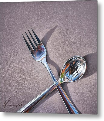 Spoon And Fork 2 Metal Print