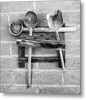 Metal Print featuring the photograph Spoon Rack by Beverly Parks