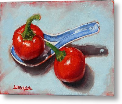 Spoonful Of Chilli Metal Print by Margaret Stockdale