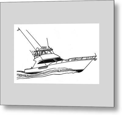 Sport Fishing Yacht Metal Print by Jack Pumphrey