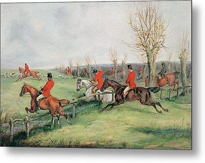 Sporting Scene, 19th Century Metal Print by Henry Thomas Alken