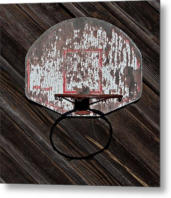 Sports - Basketball Hoop Metal Print by Art Block Collections