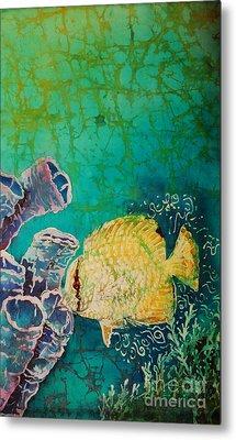 Spotfin Butterflyfish  Metal Print by Sue Duda
