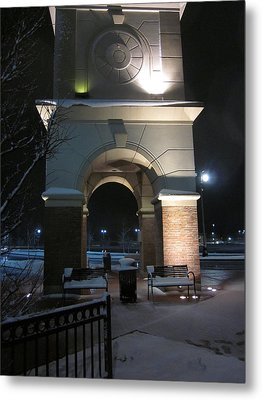 Spotlight On A Mall Tower Metal Print by Guy Ricketts