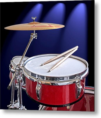 Spotlight On Drums Metal Print