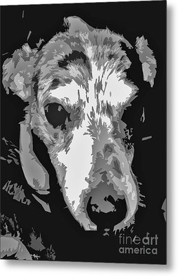 Spotted Dog Black And White Metal Print by Minding My  Visions by Adri and Ray