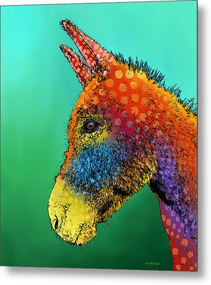 Spotted Donkey Metal Print
