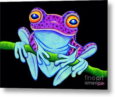 Spotted Purple Frog Metal Print by Nick Gustafson