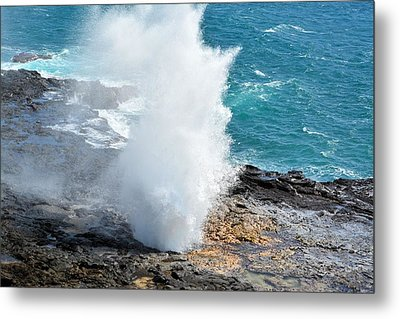 Spouting Horn In Kauai Metal Print