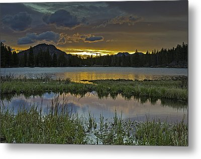 Sprague Lake Sunrise Metal Print by Tom Wilbert