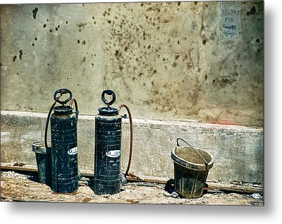 Metal Print featuring the photograph Sprayers And Buckets by Trever Miller