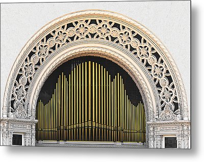 Spreckels Organ Balboa Park San Diego Metal Print by Christine Till