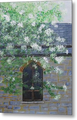 Spring At Grace Church Metal Print