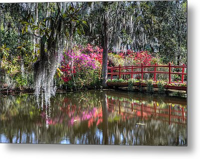 Spring At Magnolia Plantation 1 Metal Print