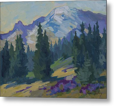 Spring At Mount Rainier Metal Print by Diane McClary
