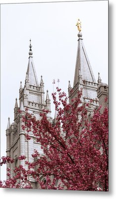 Spring At The Temple Metal Print