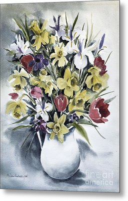 Metal Print featuring the painting Spring Bouquet by Joan Hartenstein