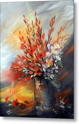 Metal Print featuring the painting Spring Branches by Dorothy Maier