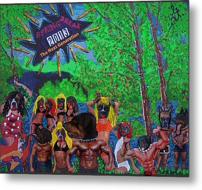 Metal Print featuring the painting Spring Break 2013 by Lisa Piper
