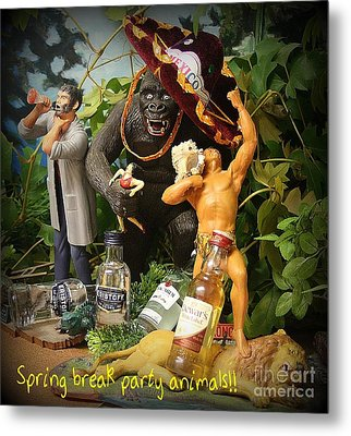 Spring Break Party Animals Metal Print
