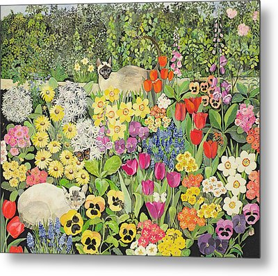 Spring Cats Metal Print by Hilary Jones