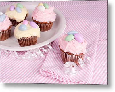 Cupcakes With A Spring Theme Metal Print
