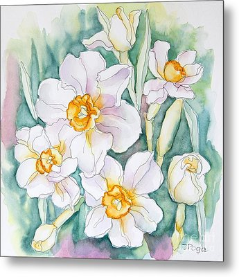 Spring Daffodils Metal Print by Inese Poga