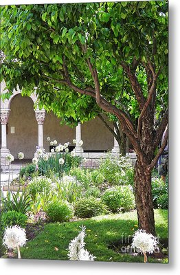 Spring Day At The Cloisters 3 Metal Print by Sarah Loft