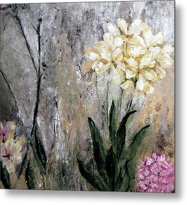 Metal Print featuring the painting Spring Desert Flowers by Lisa Kaiser