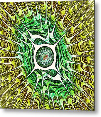 Spring Dragon Eye Metal Print