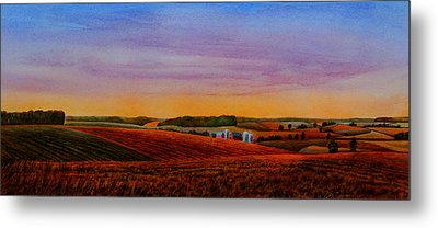 Spring Fields Metal Print by Thomas Kuchenbecker