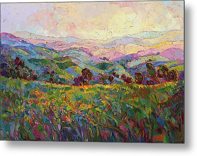 Metal Print featuring the painting Spring Fling by Erin Hanson