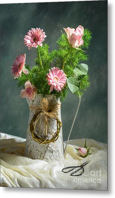 Spring Floral Bouquet Metal Print by Amanda Elwell