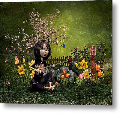 Spring Flowering Garden Metal Print