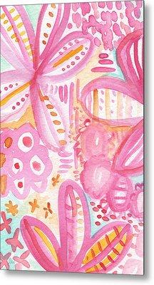 Spring Flowers- Watercolor Painting Metal Print by Linda Woods