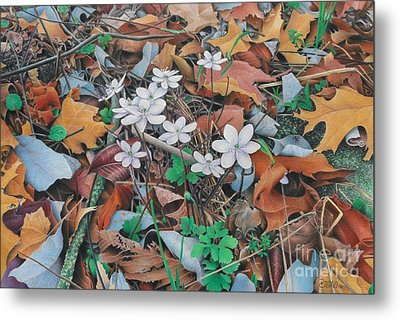 Metal Print featuring the painting Spring Forward by Pamela Clements