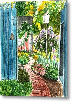Spring Garden Metal Print by Clara Sue Beym