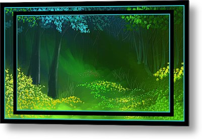 Spring Green Metal Print by Steven Lebron Langston