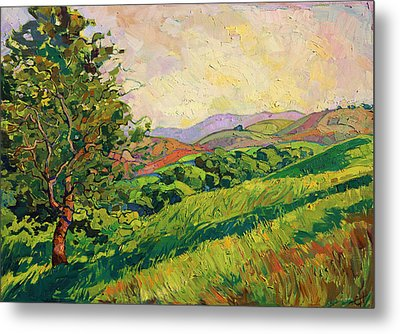 Spring Greens Metal Print by Erin Hanson