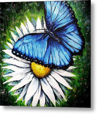 Metal Print featuring the painting Spring Has Sprung by Shana Rowe Jackson