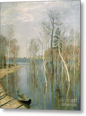 Spring High Water Metal Print by isaak Ilyich Levitan